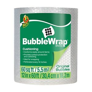 Duck Brand Bubble Wrap Roll 3 16 12 X 60 1061835 8 Pack