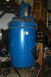 Pfaudler 500 Gallon Jacketed Glass Lined Tank Vessel Reactor W Mixer Agitator