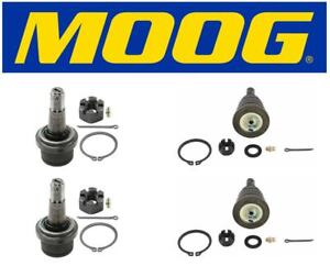Moog Set Of 2 Upper 2 Lower Ball Joints Fits Dodge Ram 2500 2wd 3500 2wd 4wd