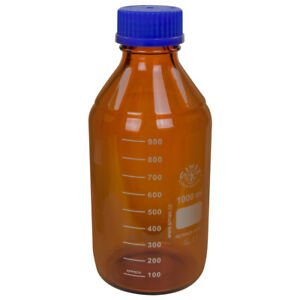 1000ml Amber Glass Media storage Bottle