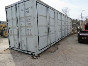 40 High Cube Shipping Container One Trip 4 Side Doors Sea Container Storage