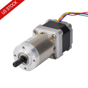 Nema 14 Geared Stepper Motor 0 8a With 100 1 Planetary Gearbox Diy 3d Printer