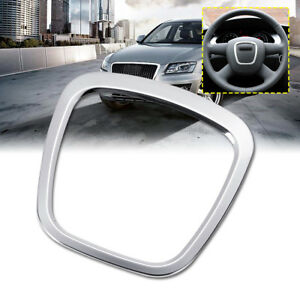 Aluminium Alloy Steering Wheel Cover Trim Body Emblem Sticker For Audi A3 A4 Q7
