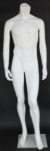 5 Ft 8 In Tall Male Headless Mannequin Form Body White Colored stm003wt New
