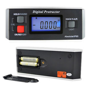 360 Digital Protractor Inclinometer Electronic Level Box V groove Angle Gauge