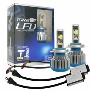 2x Canbus H4 9003 Hb2 Led Headlight Kit Hi Lo Beam Bulbs 80w 6000k 8000lm Light