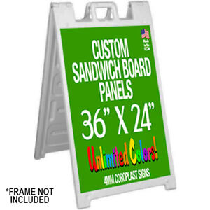 36 X 24 Plastic Sandwich Board Panels Only no Frame