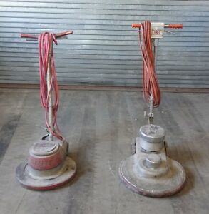 Sss Uhs 20 Floor Buffer And Clarke Fm2000 Electric Floor Buffer 2 Pc Lot As is