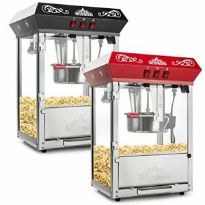 Olde Midway Bar Popcorn Machine Maker Popper With 8 ounce Kettle Red Tabletop