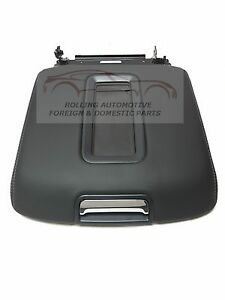 2014 2017 Silverado Sierra Black Leather Center Console Armrest Lid New Oem