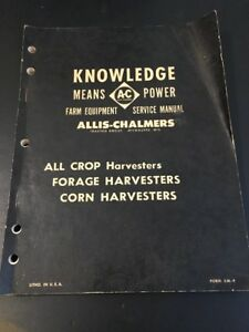 Allis Chalmers 60 100 All Crop Harvesters Service Manual Vintage Litho Sm 4