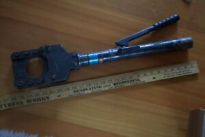 Haco 75h Self contained Manual hydraulic Cable Cutter 3 Capacity