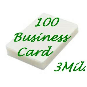 100 Business Card 3 Mil Laminating Pouches Laminator Sheets 2 1 4 X 3 3 4