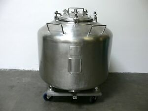 Letsch 720 Liter 190 Gallon Stainless Steel Tank Pressure Vessel 25 Psi