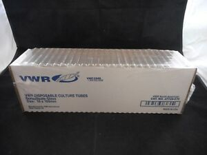 Vwr Glass Culture Tubes 14ml 16 X 100mm Durex Borosilicate Approx 250 47729 576