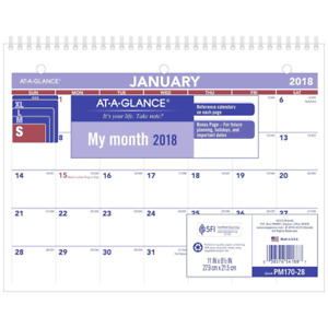 At a glance Pm17028 18 Monthly Desk Wall Calendar January 2018 December 20