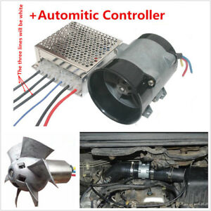 12v 16 5a Car Electric Turbo Charger Turbine Bold Lines W Automatic Controller
