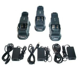 Lot Of 3x Ef Johnson 585 5100 210 5100 Series Portable Radio Battery Chargers