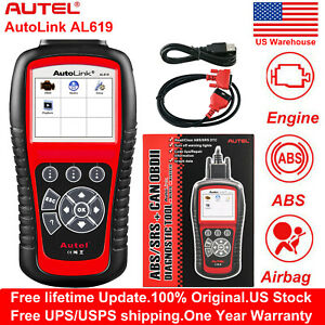 Autel Al619 Obd2 Auto Diagnostic Tool Can Code Reader Reset Srs Abs Us Version