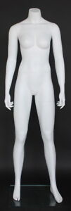5 Ft 4 In Female Headless Mannequin Matte White New Athletic Style Stw001wt new