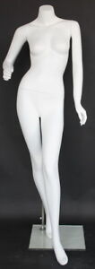 5 Ft 4 In H Female Headless Mannequin Matte White New Style Mannequin Stw004wt