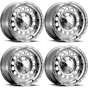 17x9 Raceline 887 Rock Crusher 8x6 5 8x165 1 0 Polished Wheels Rims Set 4