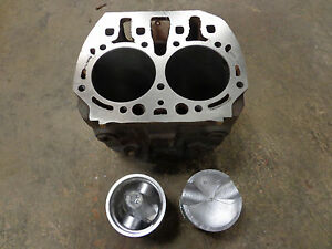 John Deere B Cylinder Block B2500r Bored 090 With New Pistons Pins Rings 2