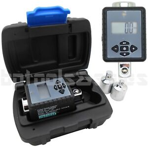 1 2 Dr Digital Torque Wrench Adaptor Micro Meter Ft Lb In Lb W 2 Reducers