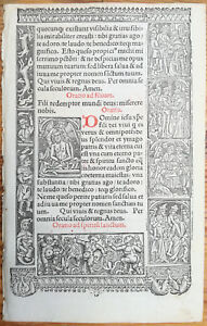Book Of Hours Leaf Hardouin Woodcut Jesus Holy Spirit Paris 1510