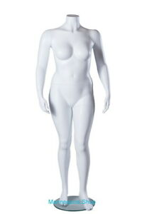 5 Ft 5 In H Plus Size Female Headless Mannequin Matte White New Style Plus 1