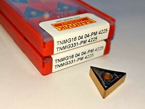 Sandvik Tnmg 331 pm Tnmg 160404 pm Grade 4225 Turning Carbide Inserts 10 Pcs