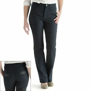 Lee Womens Jeans Straight Leg Slimming Classic Fit Petites size 8P NEW