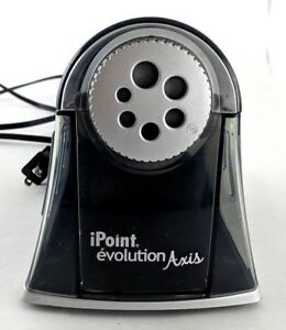 Westcott Electric Ipoint Evolution Axis Heavy Duty Pencil Sharpener Black Used