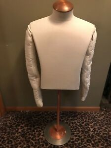 Cloth White Headless Torso Male Dress Form Base Clothing Mannequin Display Arms