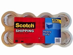 8 Rolls Scotch 3m Heavy Duty Shipping Packaging Tape 1 88in X 54 6yd
