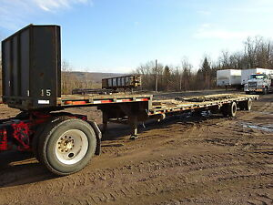 1992 Trail Eze 48 Step Deck Trailer Nice Flatbed Low Pro Equipment Drop