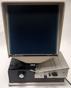 Bell Howell Abr 400 Microfiche Reader 120v 50 60hz 250w Used Powers Up