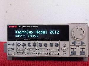 Keithley 2612 W Keithley Nist W data Dual channel System Source Meter