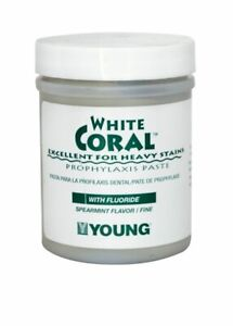 Young Dental 033209 White Coral Prophy Paste With 1 23 Fluoride Mint Coarse 9oz