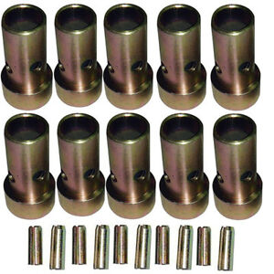 5 Pair Of Category Ii Quick Hitch Bushings Roll Pins Cat 2 Tractor Bushing Set