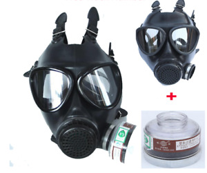 40 Mm Full Face Gas Mask Military Respirator Filter Paint Spraying Chemical