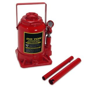 20 Ton Hydraulic Low Profile Bottle Jack Lift Heavy Duty Automotive Car Truck