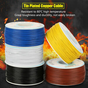 1x Roll Wire wrapping Single Copper Wire Strand Electric Cable Core 0 25mm 30awg