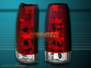 88 98 Gmc Chevy Ck Full Size 92 99 Tahoe Suburban Yukon Tail Lights Red Clear