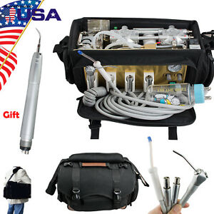 Us Portable Dental Turbine Unit Air Compressor Suction 3 way syringe Scaler Ce