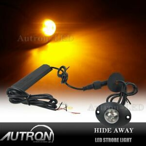 Hide Away 2 3 6 Led Emergency Patrol Truck Vehicle Warning Strobe Lights Amber