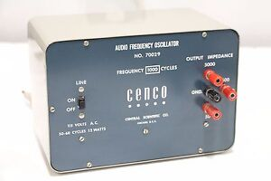 Cenco Audio Frequency Oscillator 70029 Central Scientific