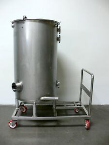 Csm 175 Gal 660 Liter Stainless Steel Alcohol Tank On Rolling Cart