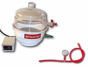 Heatvacxl Plus Heated Vacuum Chamber Extract Degas Solvent Concentrate Purge Oil