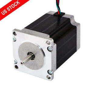Nema 23 Stepper Motor 1 9nm 269oz in 3a 76mm 6 35mm 4 Wires Cnc Router Mill